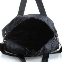 Toptan 5 adet Tote çanta omuz askısı ile siyah kadınlar için erkekler seyahat