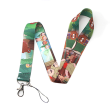 Homegaga Brickleberry kids keychain lanyard webbing ribbon neck strap fabric id badge phone holders necklace accessories D1900