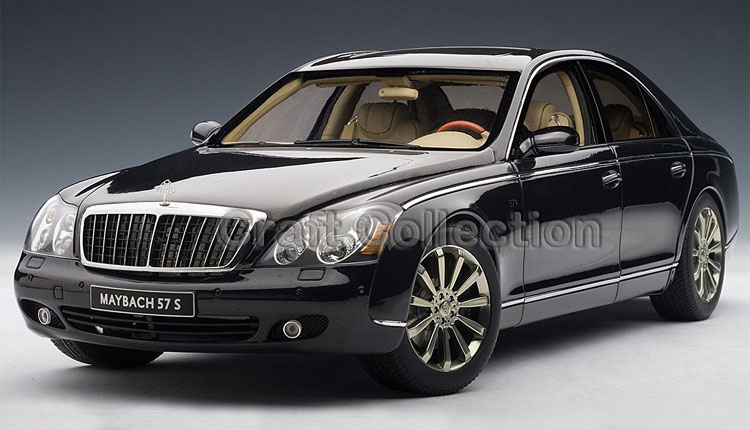 Black 1 18 AutoArt AA Maybach 57 S Diecast Model Car Luxury Gifts Collection Mini