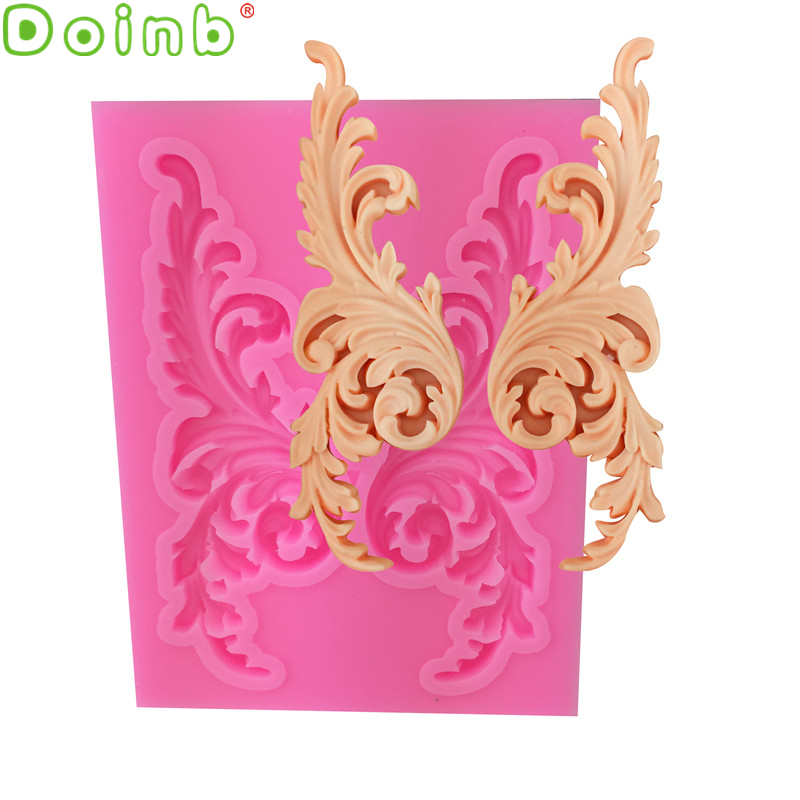 Border Silicone Mould Molds Scoops Scrolls