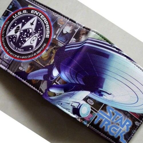 2018 Star Trek U.S.Ship Enterprise NCC-1701-D Logo wallets Purse Multi-Color Leather W131 2018 games pacman games logo wallets purse multi color leather new hot w199