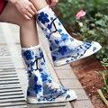 New arrival! Thicken Soles Blue Plum Shoes Covers Raincoats Child favors Impermeable Non-slip Rain Boots S/M/L