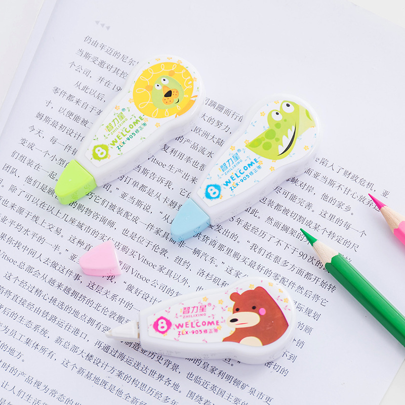 Creative Cute Kawaii Cartoon Animal Correction Tape Tools Student Corrector Stationery Girls Gift Office Prizes Supplies 1 Pcs