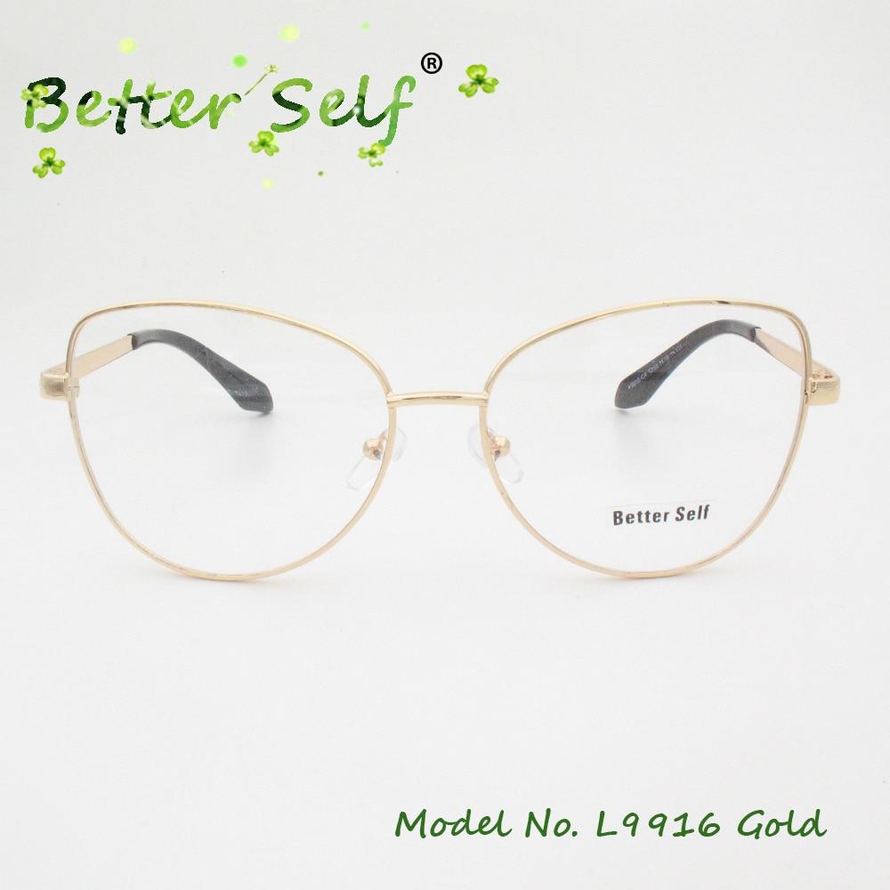 Better Self L9916 Prescription Eyewear Alloy Spectacles Gold ...