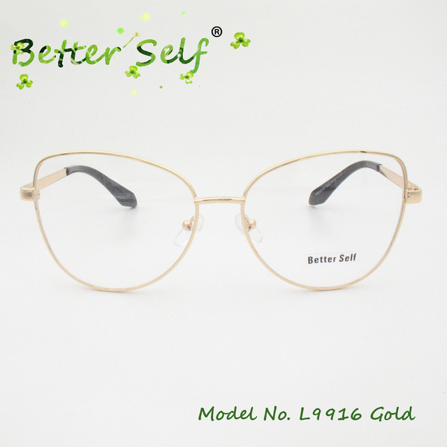 3c16a5128c8 Better Self L9916 Prescription Eyewear Alloy Spectacles Gold Eyeglasses  Frames For Women Myopia Optical Cat Eye Glasses