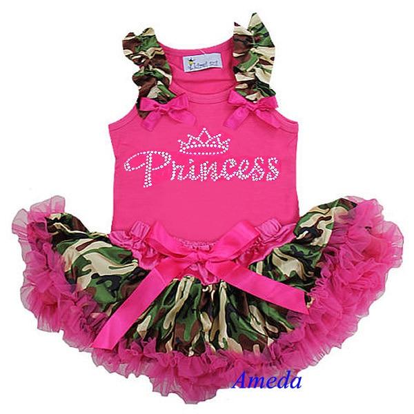 Baby Girl Camo Clothes Enchanting Newborn Baby Camo Pettiskirt Rhinestone Princess Pink Tank Top Party