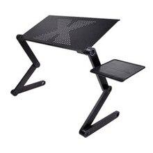 ポータブル調節可能なラップトップのための折りたたみノートパソコンデスクコンピュータメサパラノートブックソファベッド黒のトレイスタンド