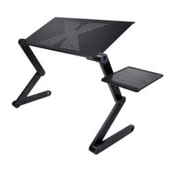 Draagbare opvouwbare verstelbare klaptafel voor Laptop Bureau Computer mesa para notebook Stand Tray Voor Slaapbank Zwart