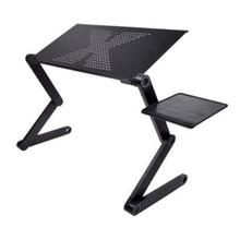 แบบพกพาโต๊ะแล็ปท็อปสำหรับแล็ปท็อปพับโต๊ะคอมพิวเตอร์Mesa Paraโน้ตบุ๊คขาตั้งถาดสำหรับเตียงโซฟาสีดำ