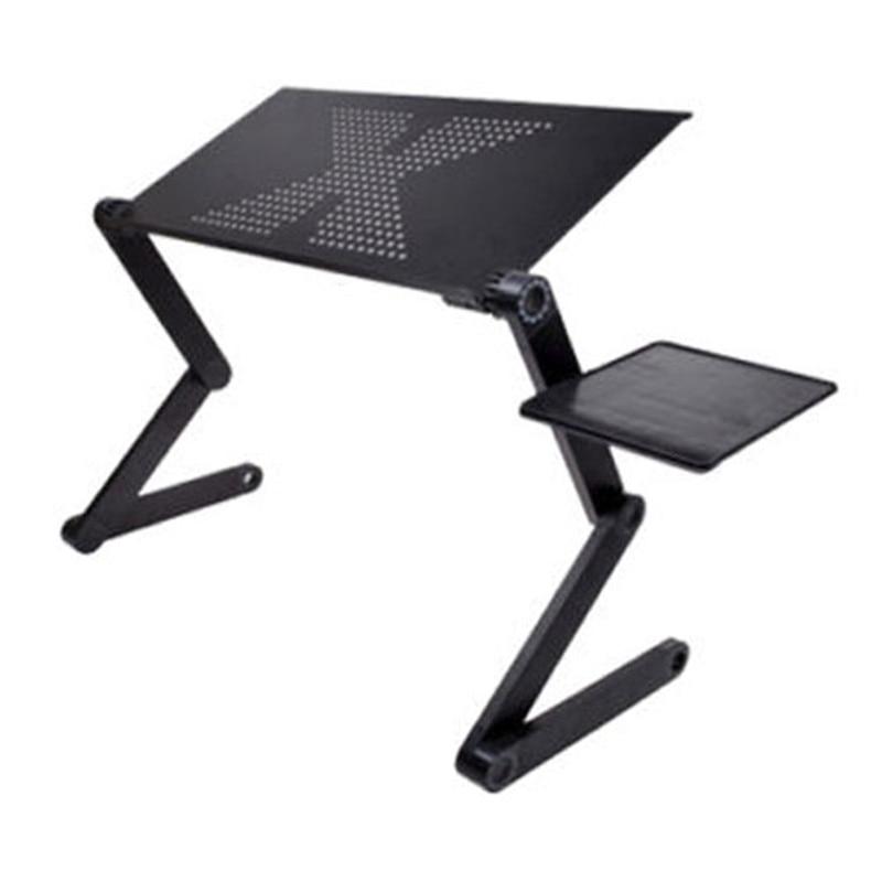 Portátil plegable ajustable mesa plegable para el ordenador portátil de escritorio de la computadora de mesa para soporte de portátil bandeja para sofá cama negro