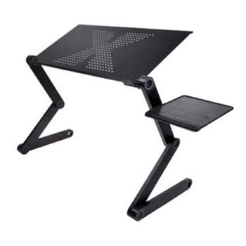 Tragbare Faltbare Einstellbare Klapptisch Für Laptop Schreibtisch Computer Mesa Para Notebook Stand Tablett Für Sofa Bett Schwarz