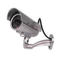 New Waterproof Outdoor Indoor Fake Bullet Camera Led Light Fake Security IP Camera Simulation CCTV Camera