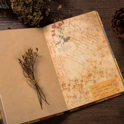 Creative Stationery Vintage Notebook Diary Planner Journal Sketchbook Notepad Soft Kraft Paper Notebooks Gift European Retro
