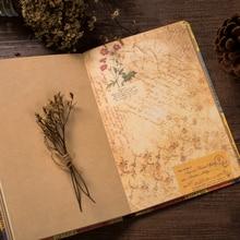 Papelería creativa Vintage agenda planificador diario Bloc de notas cuaderno de dibujo suave Kraft cuadernos de papel regalo europeo Retro