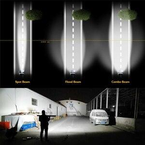Image 4 - Światło CO 42 cal 12D prosto listwa świetlna LED 780W 3 wiersze miejscu powódź Combo wiązki listwa Led Offroad dla UAZ 4x4 SUV ATV ciągników siodłowych