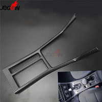 Carbon fiber look Central Console Switch Gear Shift Knob Water Cup Panel Trim Cover For Volkswagen VW Golf 7 MK7 VII GTI GTD R