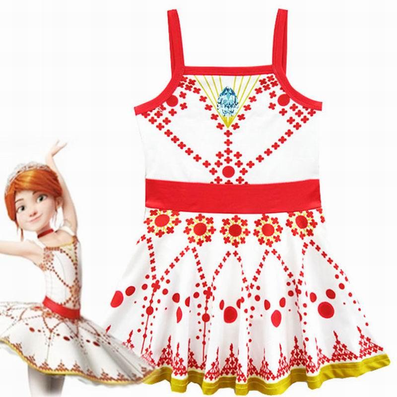 Girl Ballet Dress Ballerina Cosplay Angel Love Ballet Sling Sleeveless Dance Costumes Kids Party Princess Dress
