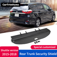 Rear Trunk Accessories For Honda Shuttle 2015 2016 2017 2018 2019 Black Rear Cargo Trunk Shade Security Cover car styling