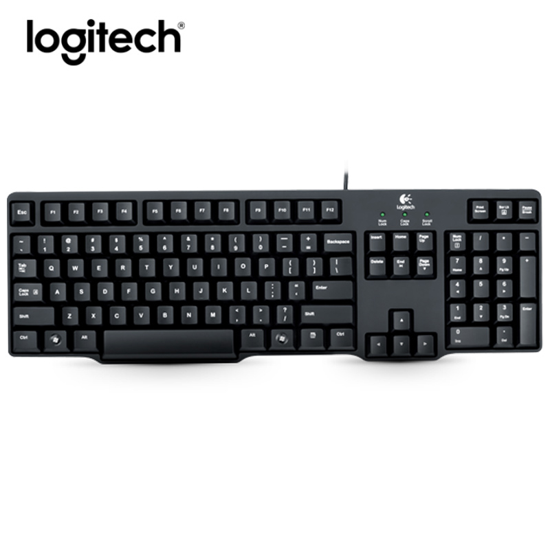 logitech wired gaming keyboard k100 genuine laptop computer pc ergonomic keyboard spill. Black Bedroom Furniture Sets. Home Design Ideas