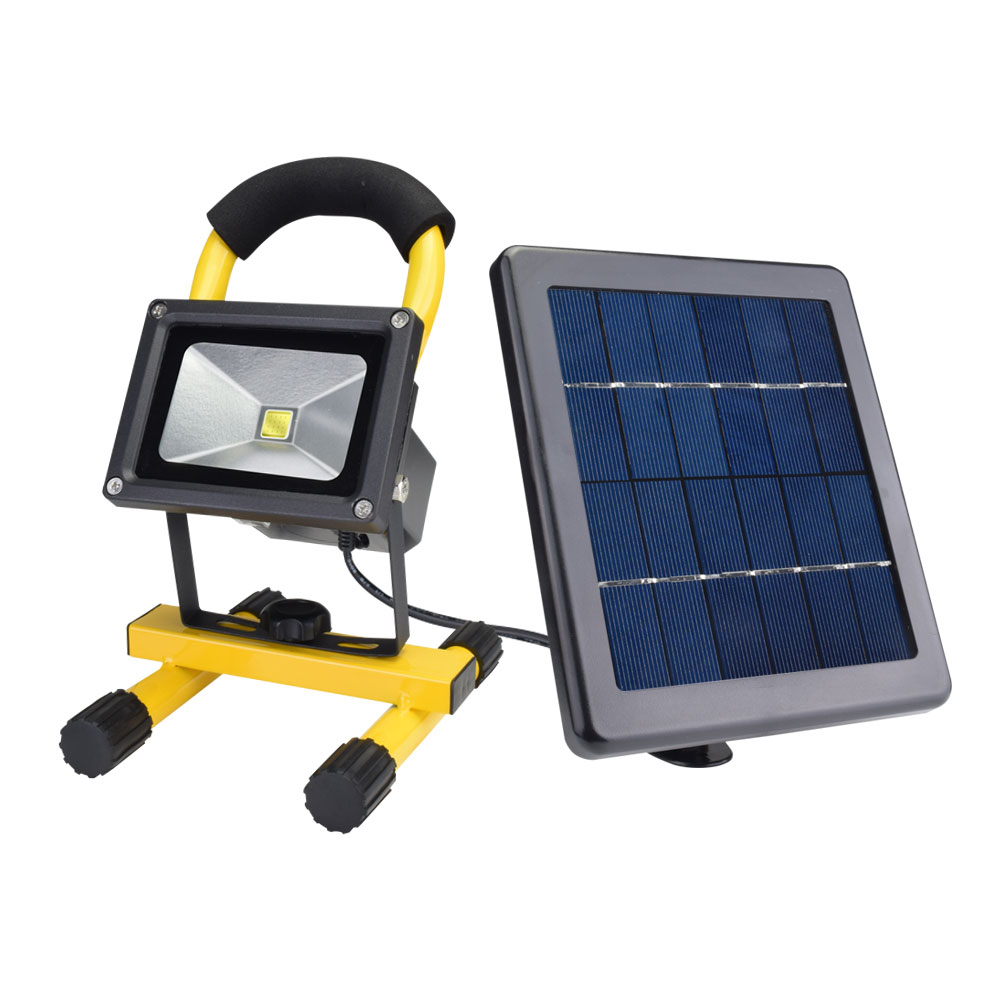 Solar LED Spotlight Outdoor Floodlights 10W IP65 Waterproof Portable Solar Powered Refletor Led Rechargeable Camping Flood light (8)