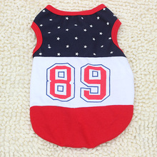 Pet Dog Cat Pet Clothes Number 89 Puppy Costume Vest Tee Sports T-shirt Clothing