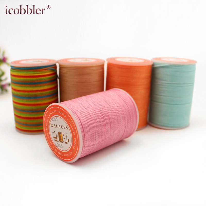 40 Colours Can Choose Round Waxed Thread For Leather Craft Supplies Profession Tool 0.8mm Diameter Polyester Line Rope DIY 50M