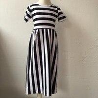 Stripe Maxi Long Dress Kids New Summer Family Clothes Mother Daughter Dresses Women Kids Girls Long
