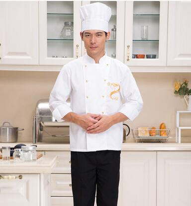 Hot Unisex Long Sleeve Cook Suit Restaurant Cook Work Wear Hotel Chef Uniforms Double-breasted Kitchen Chef Top Clothes YYX 84