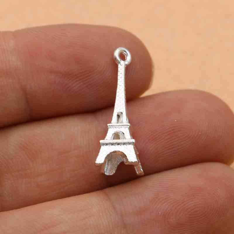 20pcs Eiffel Tower charms Antique plated Hollow Eiffel Tower Charms DIY supplies Jewelry accessories 24x45mm