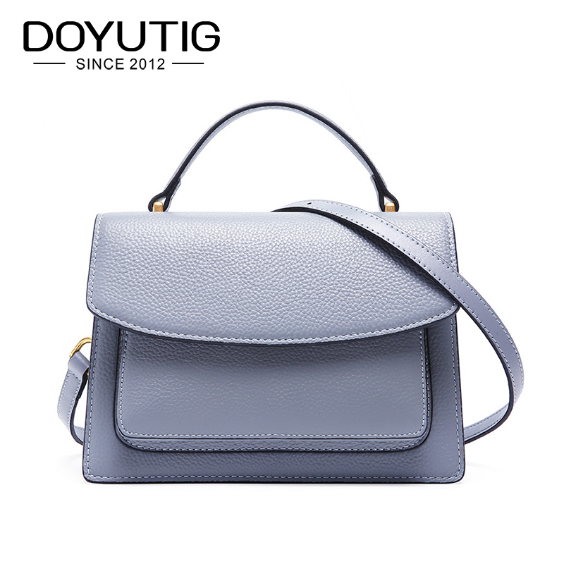 DOYUTIG Business Style Womens Genuine Leather Square Flap Lady Fashion New Crossbody Bag Real Cow Leather Shoulder Bags F654DOYUTIG Business Style Womens Genuine Leather Square Flap Lady Fashion New Crossbody Bag Real Cow Leather Shoulder Bags F654