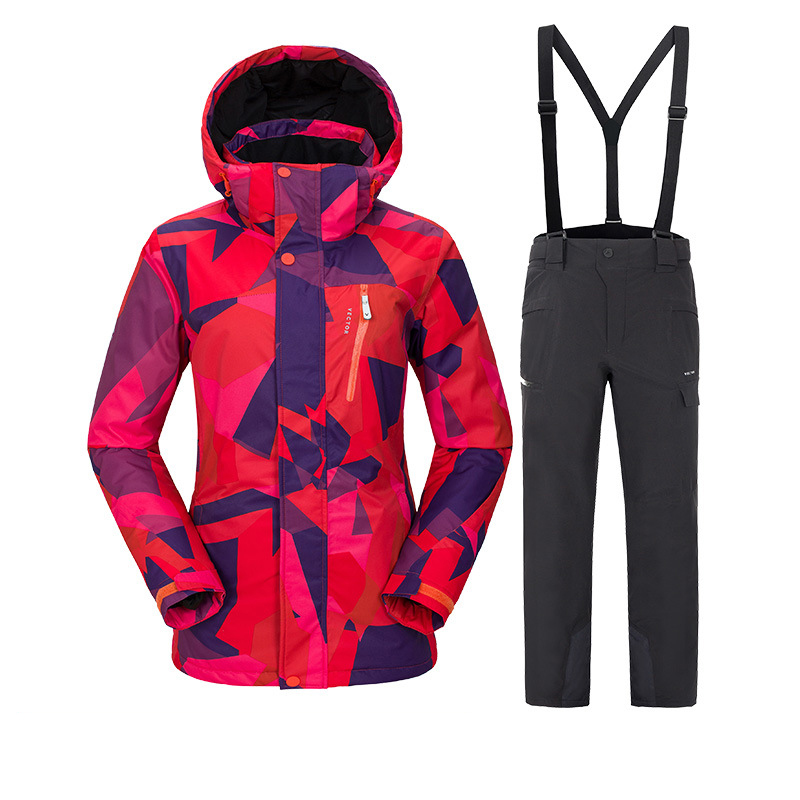 Winter Ski suit Woman 2018 New Ski Jacket And Pants Sets Women Brands Warm Waterproof Windproof Skiing and Snowboarding Suits men ski suit new brands windproof waterproof warm thicken ski jacket and snow pants sets winter skiing and snowboarding suits
