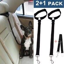 Dog Seatbelt Harness Leash Clip 2 Pack Nylon Dog Seat Belt Vehicle Car Pet Safety Belt for Dogs Adjustable недорого