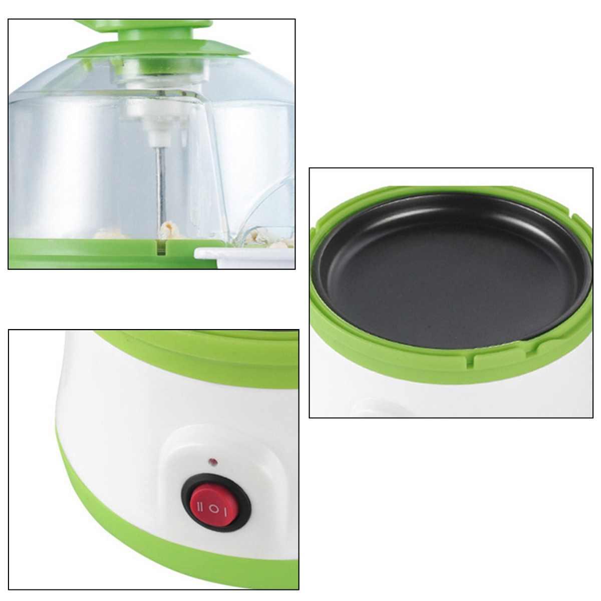 350 W Multifunções Casa Mini máquina de pipoca Popper Festa Lanche Fabricante de ovo Cozido No Vapor de Mesa Pequena Casa