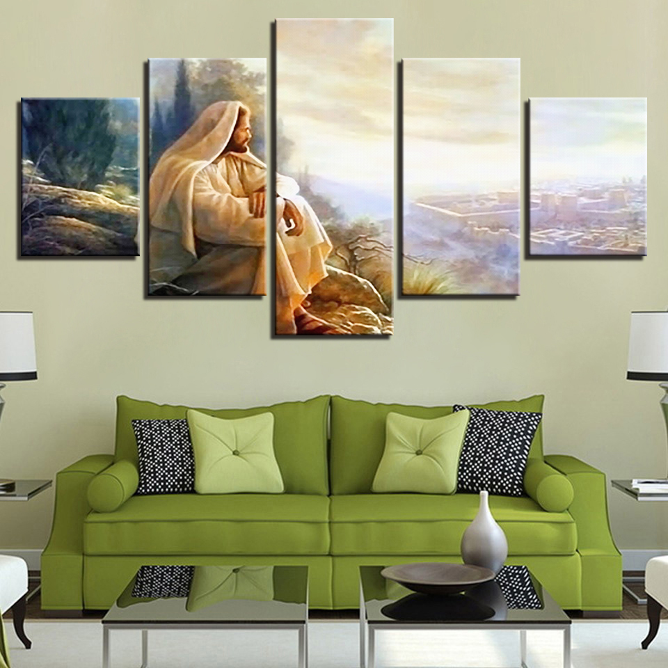 Home Decor Canvas Painting Hd Prints 5 Pieces Islamic