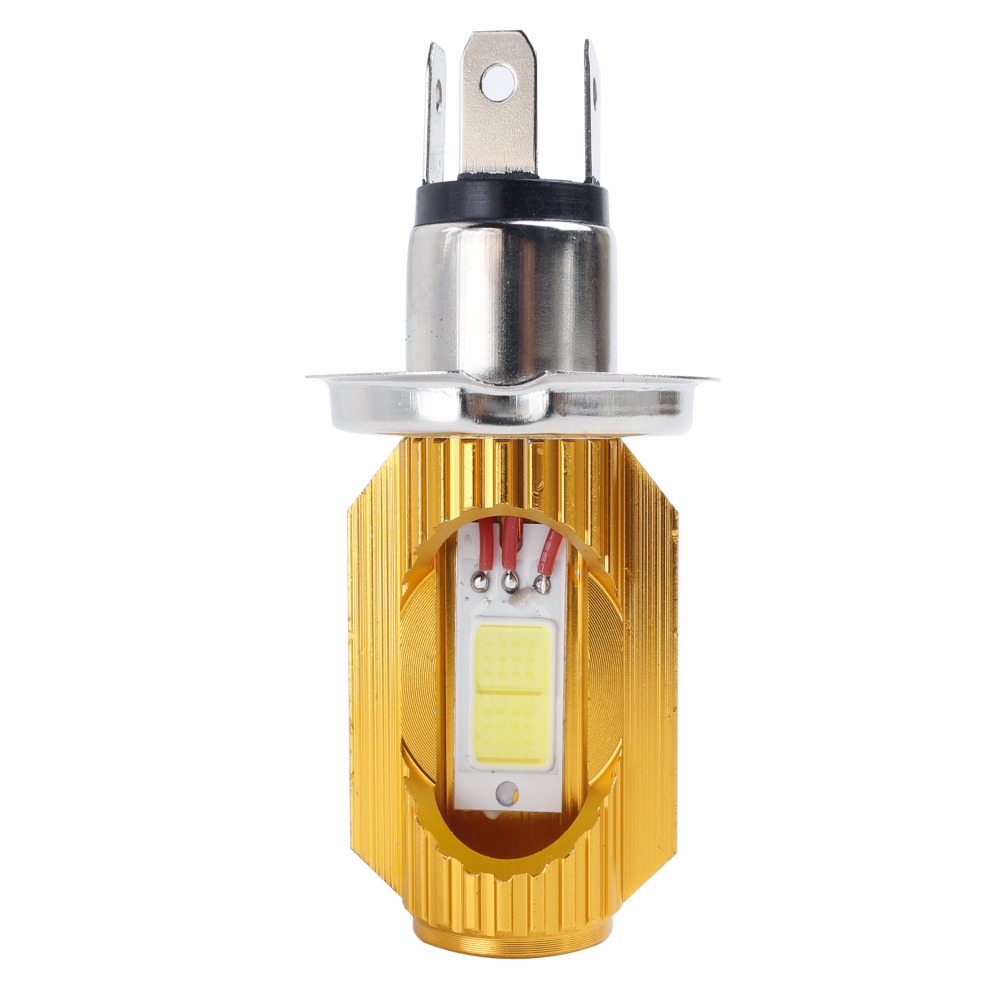 Free shipping Motorcycle Headlight Bulb H4 Led 12W 1200LM Hi/Lo Scooter Moto ATV 6000K Light Replace For Halogen Headlamp h4 led motorcycle headlight headlamp bulb cob h4 led hi lo beam scooter moto light replace for halogen 6 36v pure white 6000k