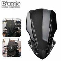 Bjmoto For Kawasaki Z900 2017 2018 Motorcycle Accessories scooter Windscreen Windshield with bracket Naked Sport Windscreen