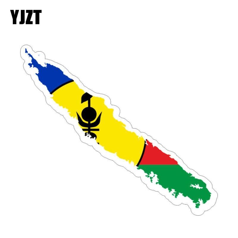 YJZT 15.1CM*2.6CM New Caledonia Flag Map Car Sticker Decal Car Accessories 6-1214