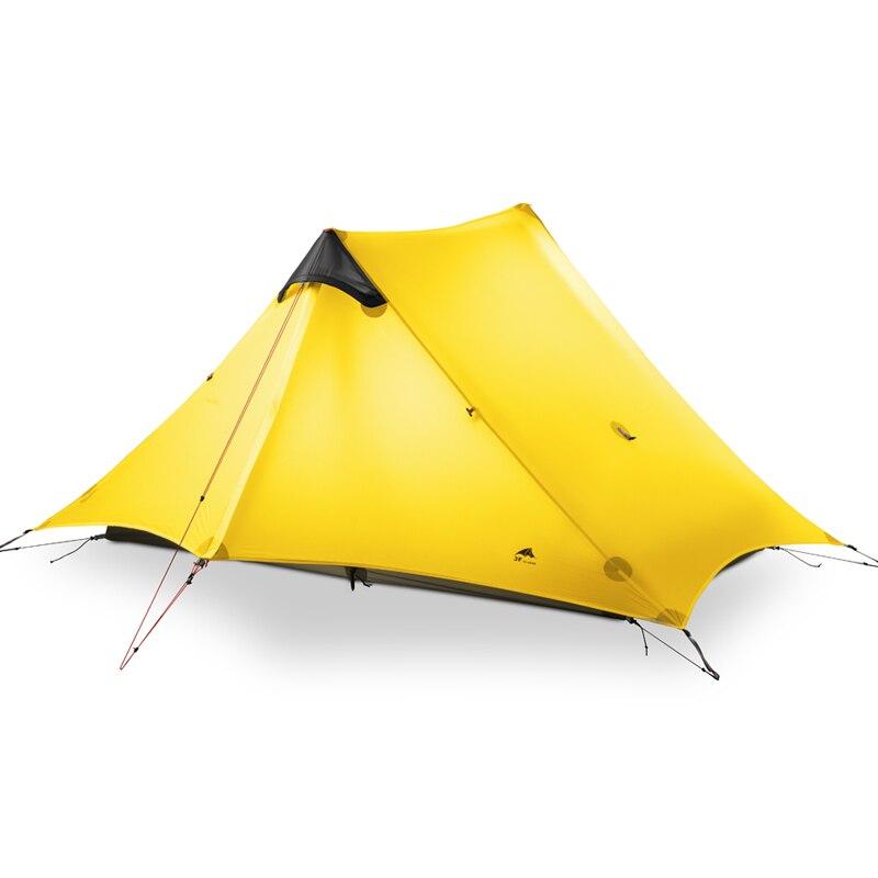 2018 LanShan 2 3F UL VITESSE 2 Personne Oudoor Ultra-Léger Camping Tente 4 Saison Professionnel 15D Silnylon Sans Tige Tente