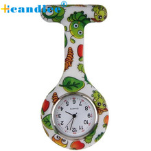 Milky Silicone Nurse Clip-on Fob Brooch Pendant Hanging Pocket Watch Reloj de bolsillo JAN25