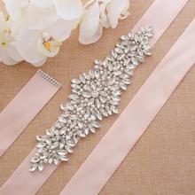 Серебряные стразы свадебный пояс ручной работы жемчуг пояс невесты хрустальный свадебный пояс для свадебного выпускного вечера платья A205S