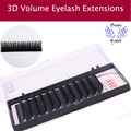 12Lines/Tray B/C/D Curl Eyelash Extension 3D Korea Silk Volume Eyelashes Makeup Natural Lashes Artificial F Eyelashes