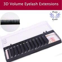 12Lines/Tray B/C/D Curl Eyelash Extension 3D Korea Silk Volume Eyelashes Makeup Natural Lashes Artificial F Eyelashes