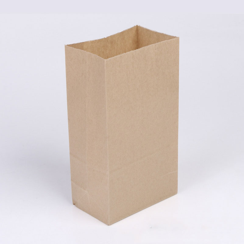 50pcs/lot brown Kraft paper cake paper bags box food packaging Jewelry Bread Candy Party Bags For Boutique cookie 18x9x6cm