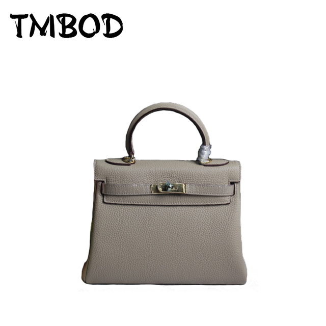 NEW 2017 3 size Casual Classic Tote Satchels Lady Lock Bag Cowhide Women Genuine Leather Handbags Ladies Crossbody Bags an753