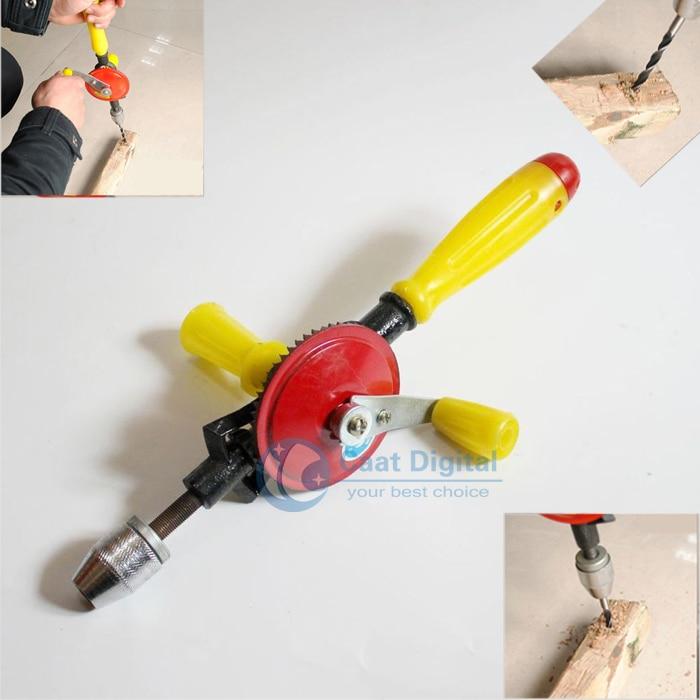 ¡Envío gratis! Taladro manual, equipo de carpintería que soporta mangos de plástico modelo de enseñanza Herramientas de carpintería de bricolaje.