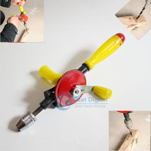 Free Shipping! Manual hand drill, woodworking equipment supporting plastic handle teaching model DIY woodworking tools. стоимость