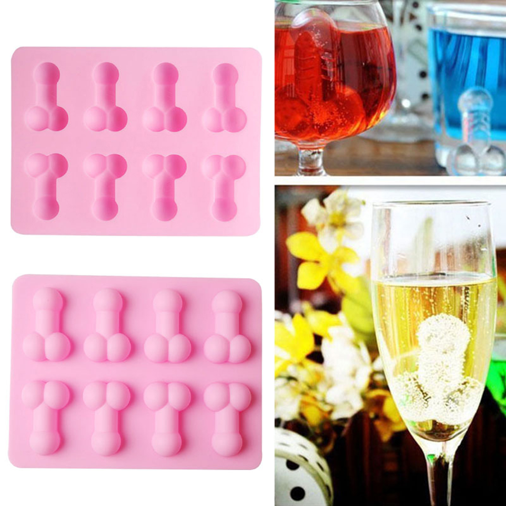 New Sexy Penis Cake Mold Dick Ice Cube Tray Silicone Mold Soap Candle Moulds Sugar Craft Tools Bakeware Chocolate Moulds Gadgets