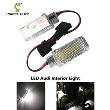 2 x светодио дный автомобиля Межкомнатная дверь любезно огни ноги гнездо лампа белый CANBUS для Audi A2 A3 A4 RS4 A5 A6 RS6 A8 Q5 Q7 TT R8