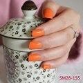Fashion Lady Candy Fake Nails Tips False Nail Middle Round End Glitte Orange Fruit 155