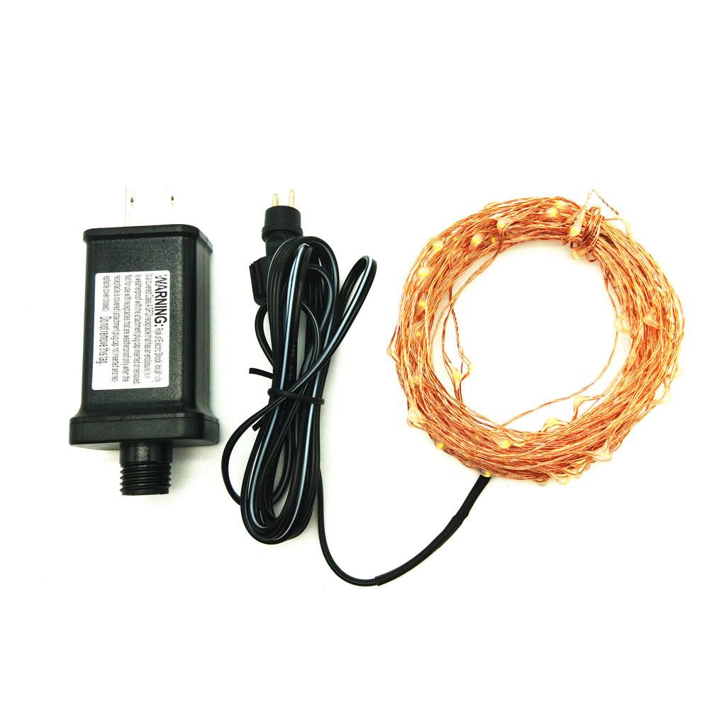 Led String Lights Dc5v 10m 100led Copper Wire Flexible Fairy 100leds Warm White Strip 12v Dc Waterproof Outdoor With Ul Listed 5v Power Adapter In Lighting Strings From